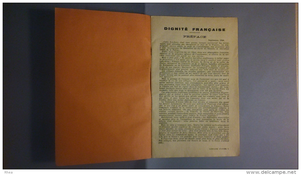 GUERRE 39-45 - LIVRET - Campagne 1944-45 - Dignité Française - Ligue Féminine D´action Catholique Française - Livres, BD, Revues