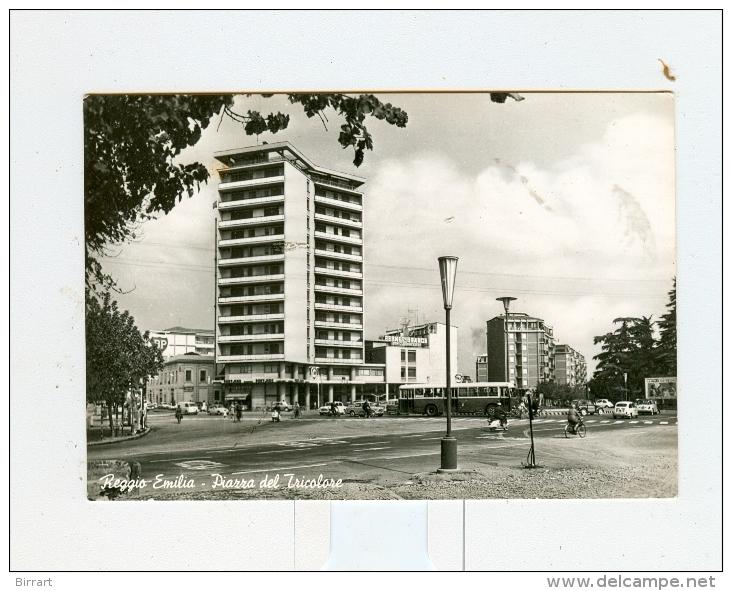 REGGIO EMILIA,P.za Del Tricolore-1962-BUS-BENZINA FINA-Auto-CAR-!!!!!!!! - Reggio Nell'Emilia