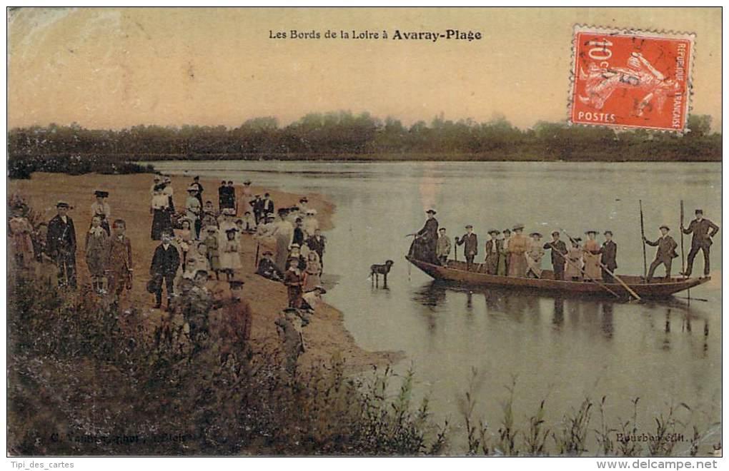 41 - Avaray-Plage - Les Bords De La Loire (colorisée, Glacée) - France