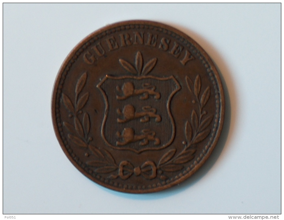 GUERNESEY 8 Doubles 1868 - Guernesey