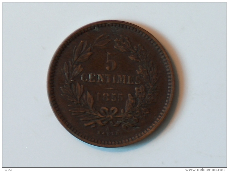LUXEMBOURG 5 Centimes 1855 - Luxembourg