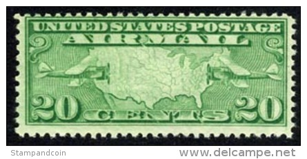US C9 Mint Never Hinged 20c Airmail From 1927 - Air Mail