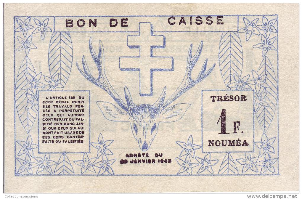 NOUVELLE CALEDONIE. Trésorerie De Nouméa. 1 Franc. Type I - - Nouméa (New Caledonia 1873-1985)