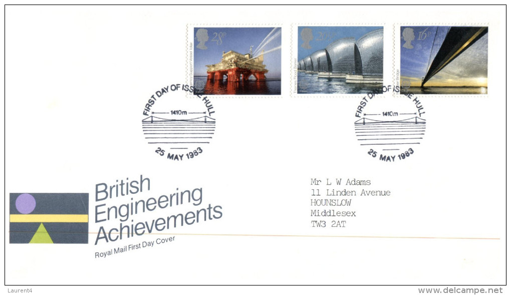 (9876) UK FDC Cover  - 1983 - British Engineering - FDC