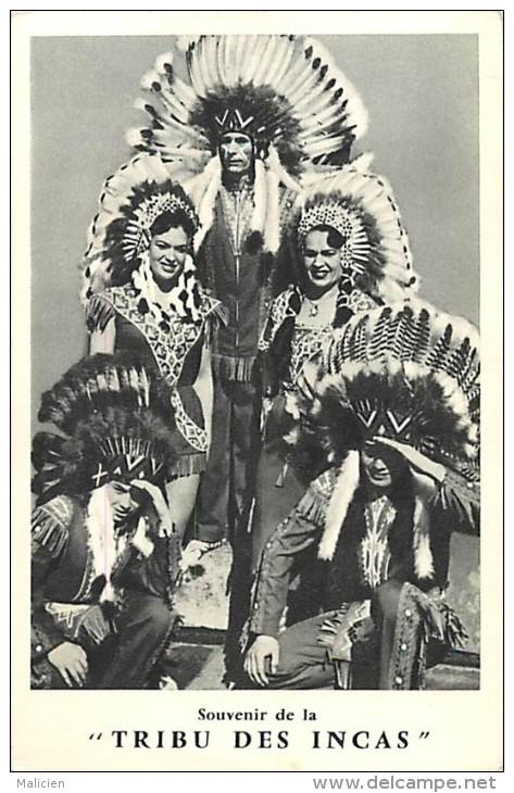 Ref  B614- Spectacles - Indiens - Souvenir De La Tribu Des Incas * - Carte Bon Etat  - - Indiens De L'Amerique Du Nord
