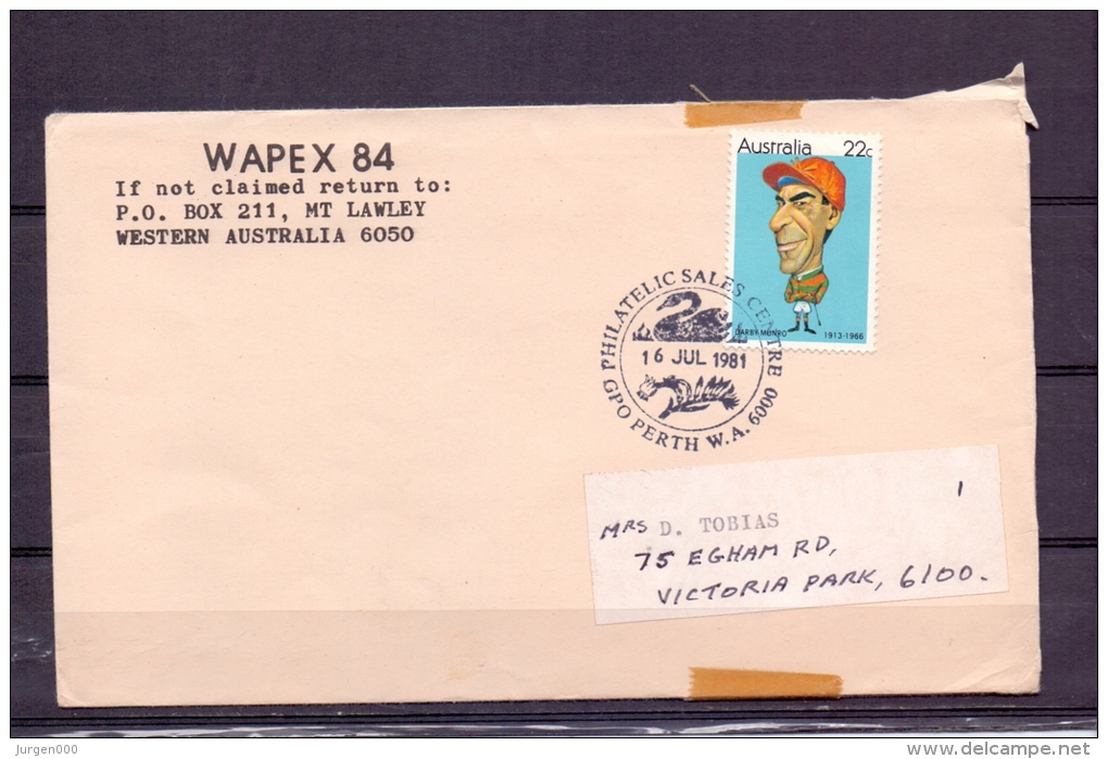 Australia  - Philatelic Sales Center - Perth 16/7/1981  (RM5706) - Cygnes