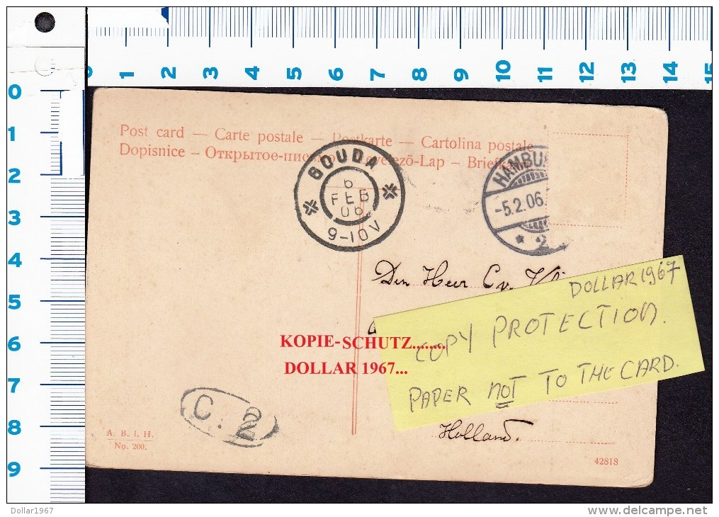 Hamburg Nord Eppendorf, Allgemeines Krankenhaus 5-2-1906  , 2 X Scans  For Condition. ( Originalscan !!! ) - Eppendorf