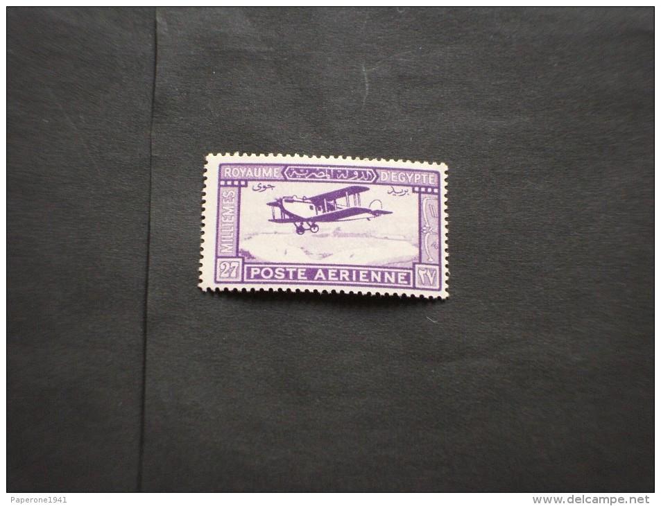 EGITTO - P.A. 1926/9 AEREO 27 M. - NUOVO(++)-TEMATICHE - Posta Aerea
