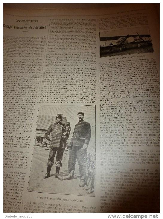 1915 JOURNAL De GUERRE (Le Pays De France):Tolmino;Indiens à Rouen;Berry-au-Bac;Volontaires D'aviation;Lemnos;Mytilène - Revues & Journaux