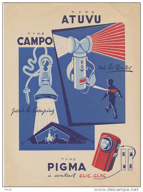 Protège-Cahiers : Pile WONDER, Boitier PIETO, Type CAMPO Pour Le Camping, Type ATUVU Pour La Route - Protège-cahiers