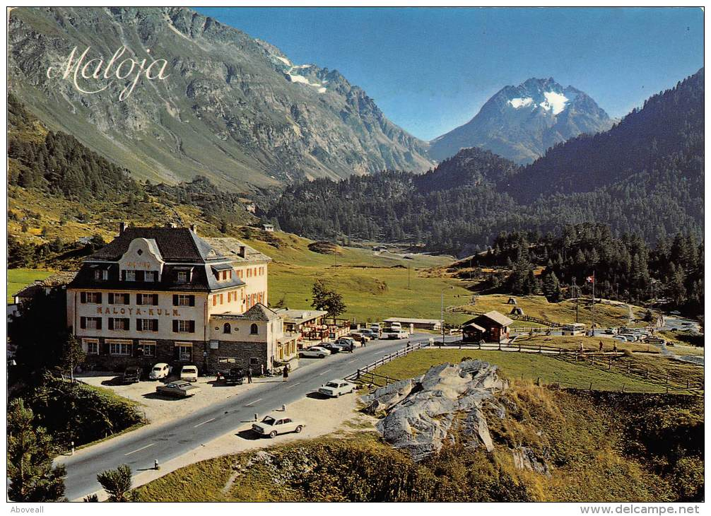 17131 Switzerland, Kanton, Hotel Maloja-Kulm, Mit Piz Del Forno, Mountains In Background - Hotels & Restaurants