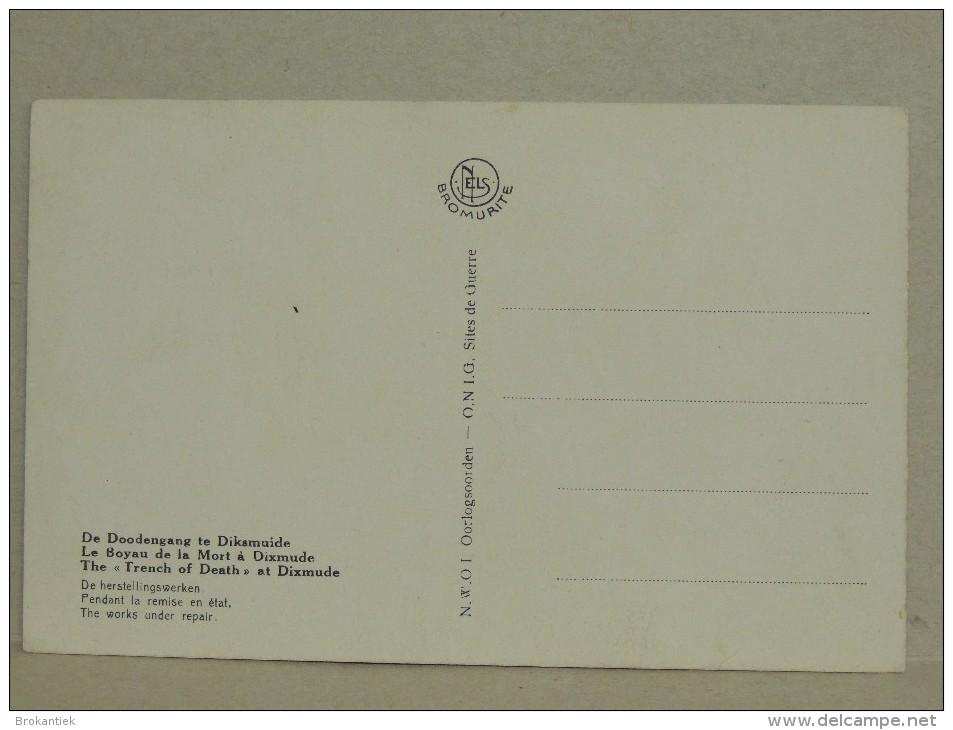 Nr4 Original Post Card 1914 18 Carte Postale 1st World War Diksmuide Flanders Fields( Bromurite Nels ) Trench Boyau - Guerra 1914-18