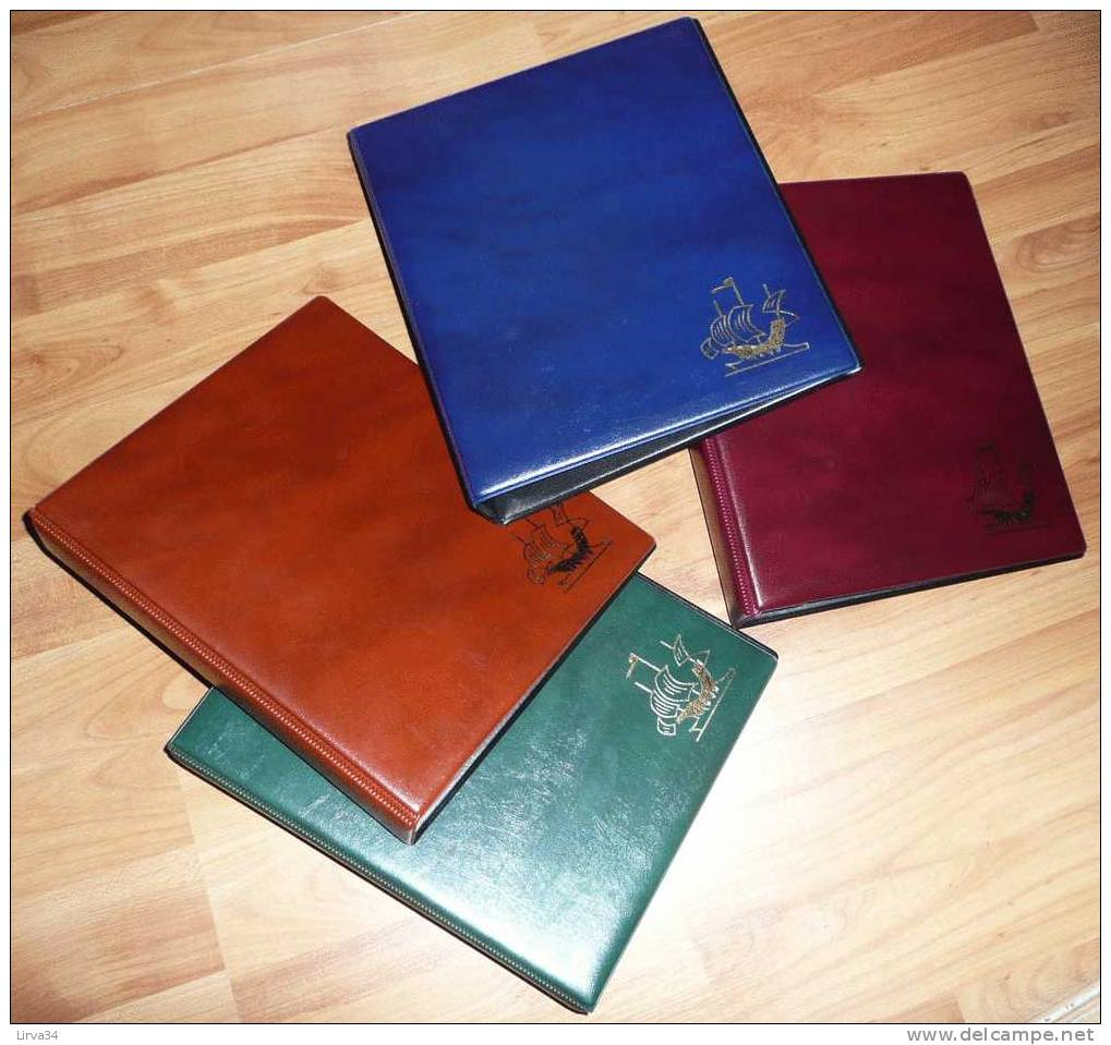 1 ALBUM CLASSEMENT CPA- CPM- LETTRES- 20 FEUILLES INCLUSES : 4 COULEURS AU CHOIX- BLEU- ROUGE- VERT- NOIR- 6 SCANS - Supplies And Equipment