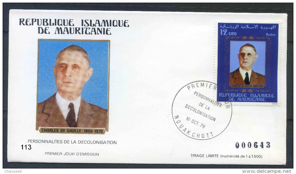 PJM113Mauritanie -    Charles De Gaulle   - 16 Octobre 1978 - - Mauritanië (1960-...)