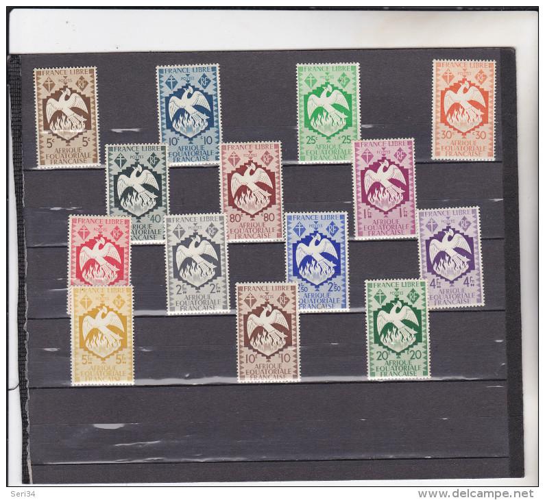A E F : Série De Londres : Y&T : **: 141 à 154 - A.E.F. (1936-1958)