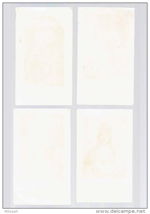 4 Images Religieuses - Supplément à La Charité - 1934 - 1935 - 1936 - Imprimerie COPPIN - GOISSE , ATH     (3648) - Godsdienst & Esoterisme