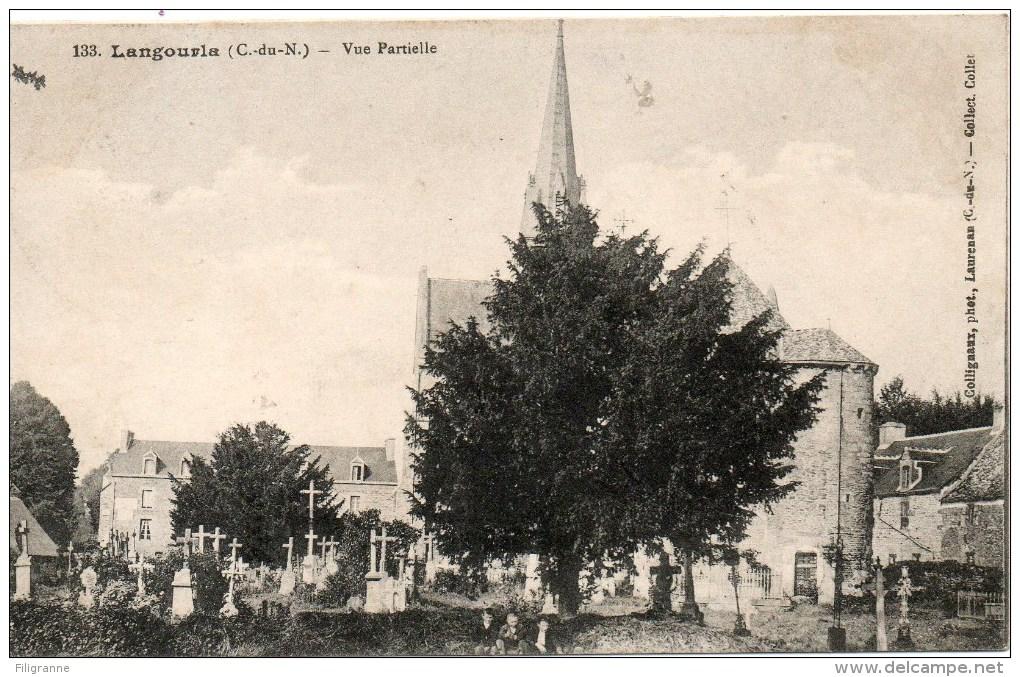 LANGOURLA Vue Partille L Eglise Le Cimetiere - France