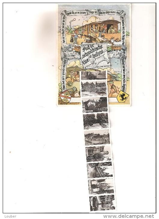 GRUSS Aus ÖHRINGEN Auf De Schwäbische Eisebahne Voll Karte Zehn Ansichten - Oehringen