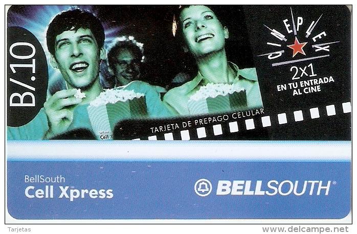 TARJETA DE PANAMA DE BELLSOUTH DE CELL XPRESS B/.10 (CINEPLEX-CINE-CINEMA) - Panamá