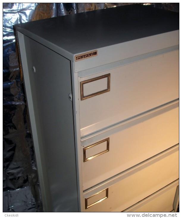 Mobilier industriel des ann es 60 sansen meuble de m tier casier 5 clapets - Mobilier industriel bruxelles ...