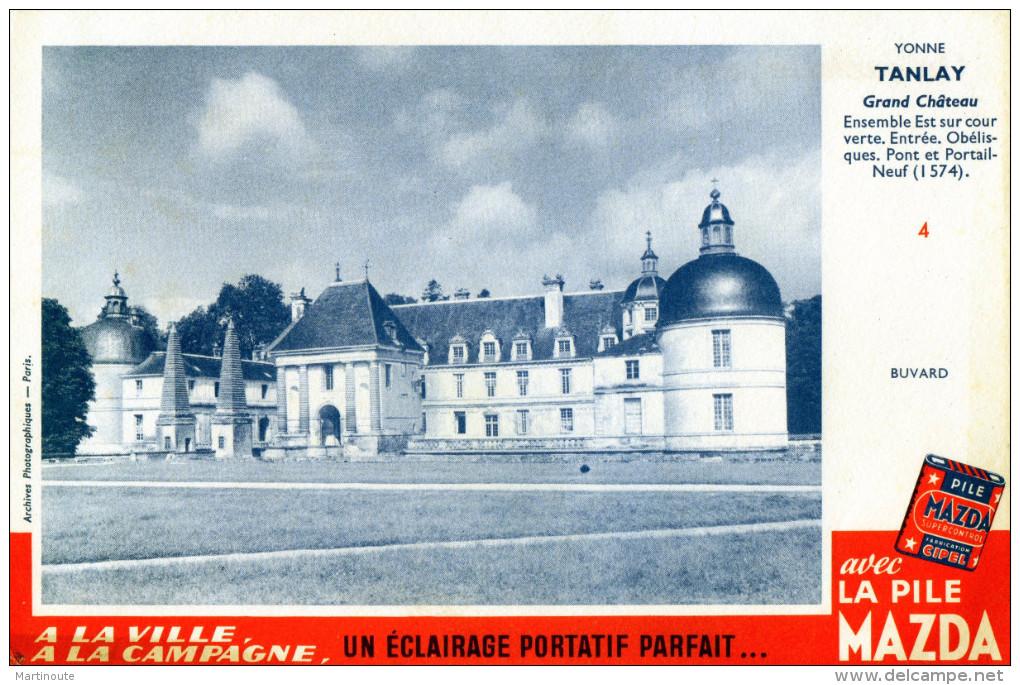 -  BUVARD  Piles MAZDA - Château De TANLAY Yonne - 699 - Piles