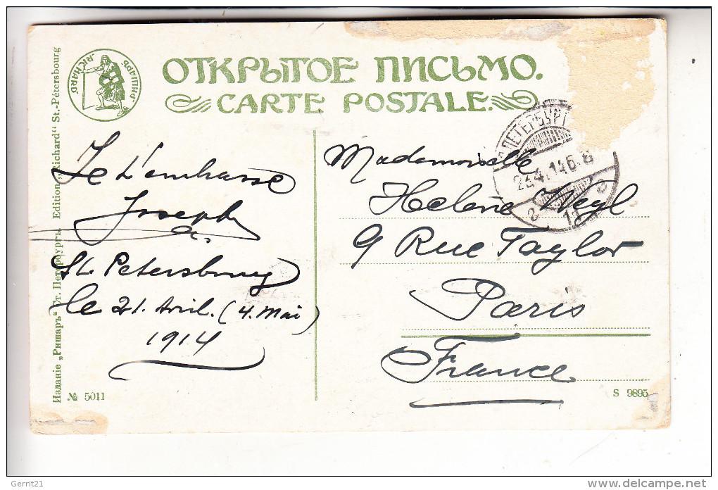 RU 190000 SANKT PETERSBURG, Zar Peter Der Große, Denkmal, 1914 - Russland