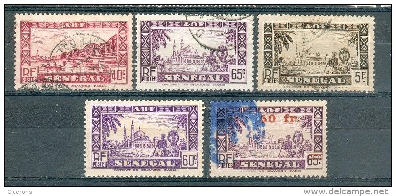 Collection SENEGAL ; Colonies ; 1935-44 ; Y&T N°   ;  Lot  008  ;  Neuf  / Oblitéré - Oblitérés