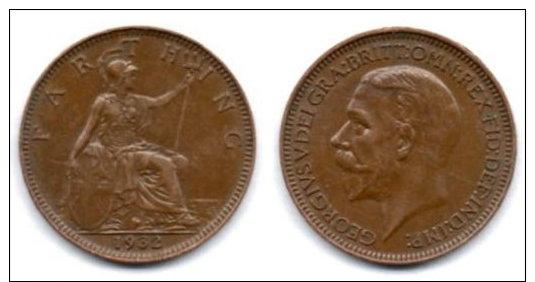 Gran Bretagna 1 Farthing 1932. - B. 1 Farthing