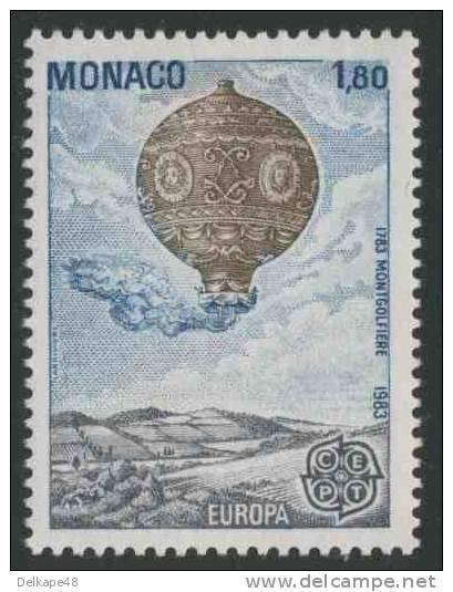 Monaco 1983 Mi 1579 ** Montgolfiere (1783) - Balloon / Ballon / Luftballon - Europa Cept - Monaco