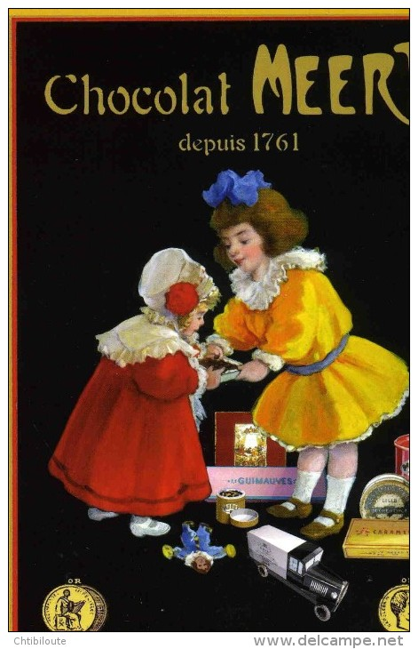 """PUBLICITE   """"  CHOCOLAT  MEERT  """"  ED FLORISCOPE  CPSM  10 X 15  NEUVE - Advertising"""
