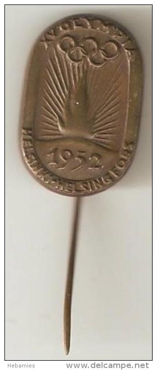 FINLAND - HELSINKI 1952  XV SUMMER OLYMPICS - ORIGINAL PIN - - Olympische Spiele