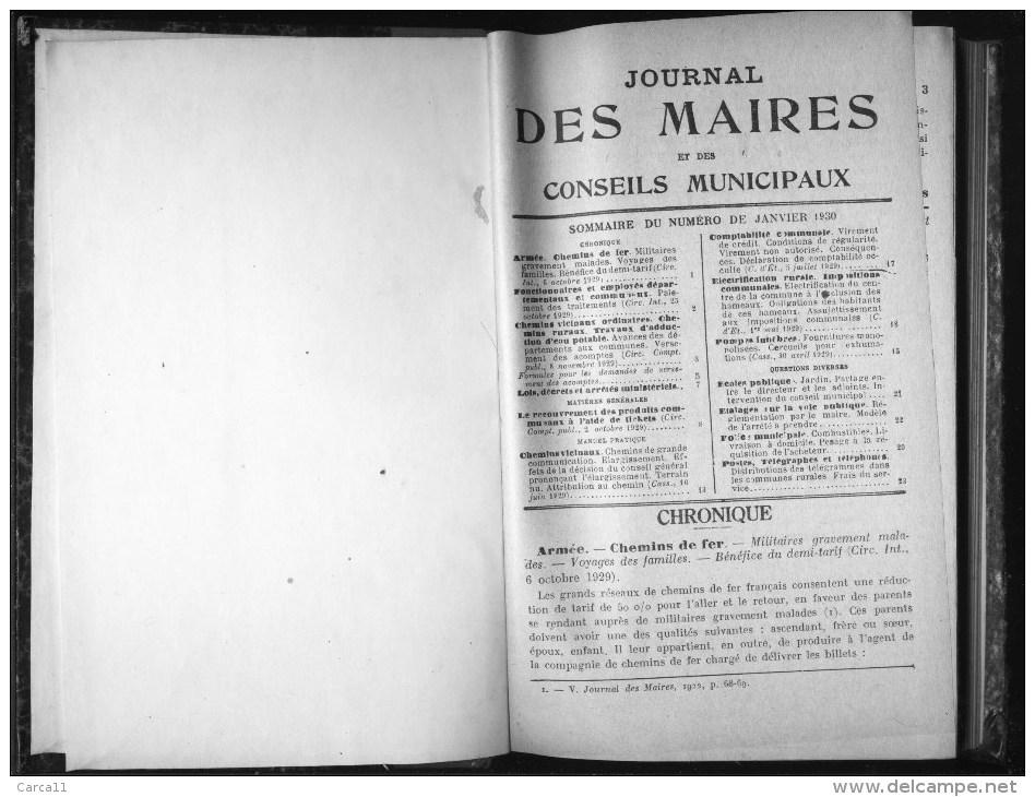 De 1930 - JOURNAL DES MAIRES - - Droit