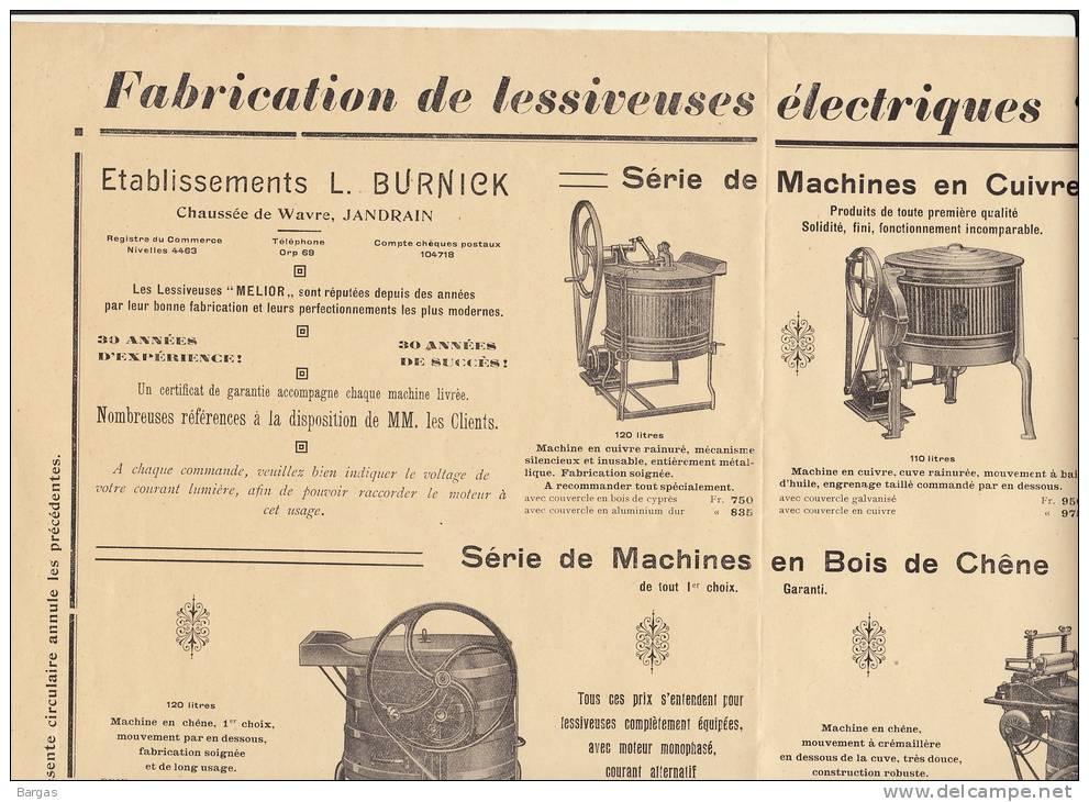 Affiche Lessiveuse MELIOR Burnick Chausse De Wavre à Jandrain Lessive 43x35cm - Posters