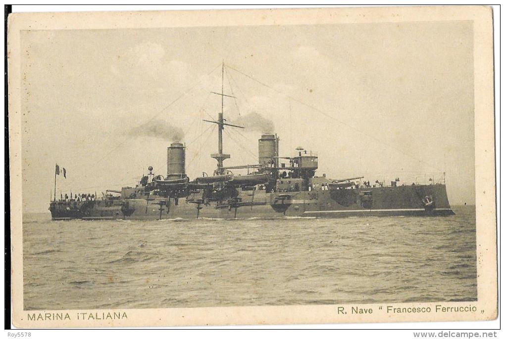 NAVI TEMATICA MARINA ITALIANA REGIA NAVE FRANCESCO FERRUCCIO - Guerra