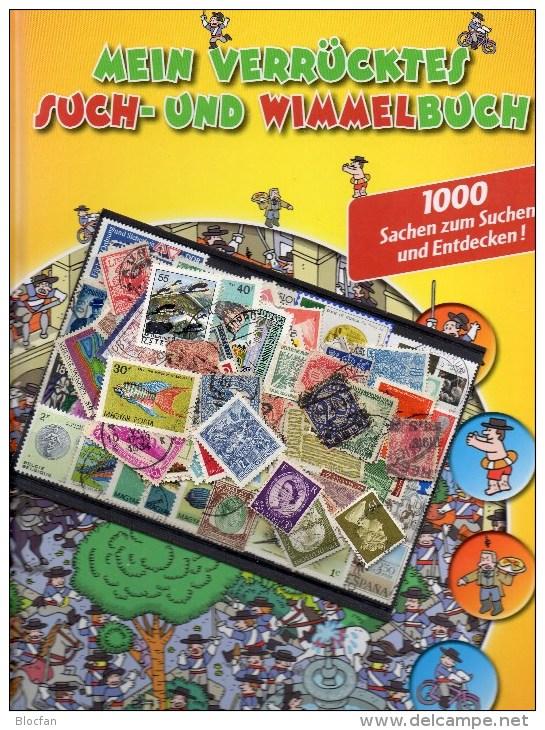 Mehr Als 111 Briefmarken O 60€ Plus Verrücktes Such-/Wimmelbuch Neu 3€ Motivation Für Junge Sammler Oder Alte Hasen Book - Boeken Voor Kinderen