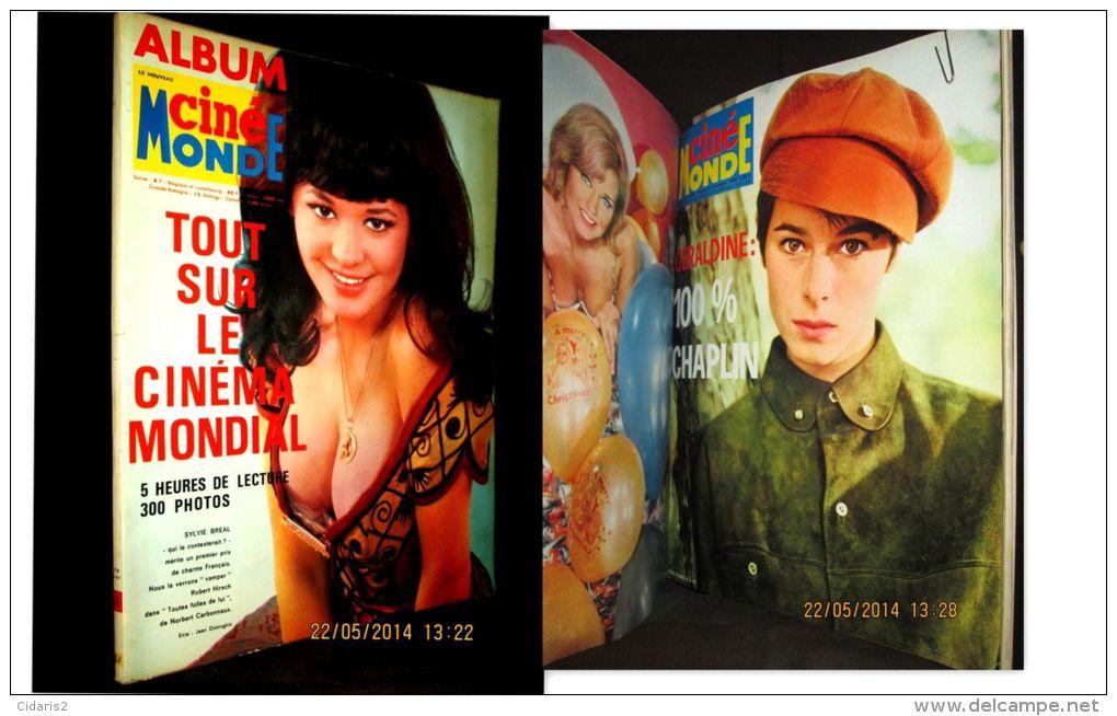 Revue Nouveau CINEMONDE Album #3 Cinema Kino Movie WELCH BREAL DARC CHAPLIN AUGER LAGRANGE DENEUVE Rel. 5 Numéro 1966 ! - Cinema