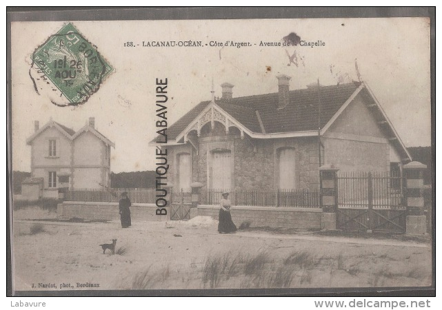 33--LACANAU OCEAN-Avenue De La Chapelle--animé - Other Municipalities
