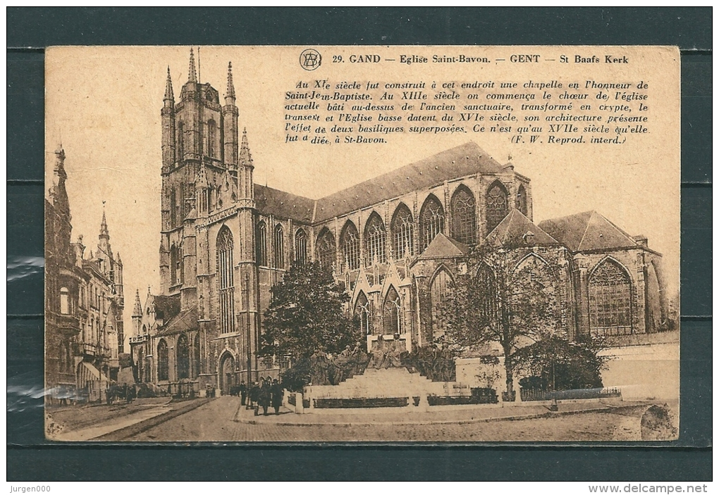 GAND: Eglise Saint Bavon,  Gelopen Postkaart  (GA14689) - Gent