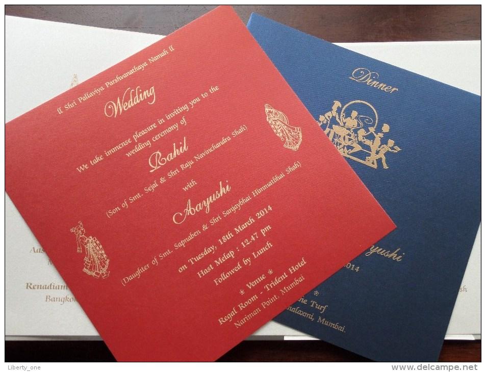 WEDDING Invitation Mr. & Mrs. KETANBHAI RAMANBHAI SHAH Rahil Weds Aayushi ( See Photo For Detail ) ! - Boda