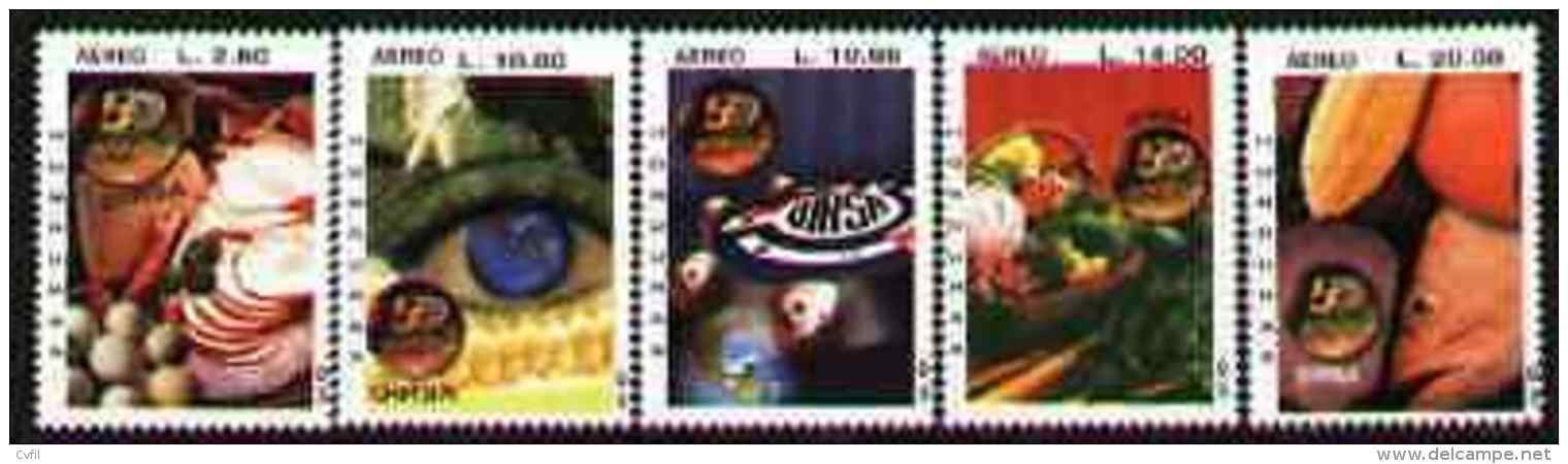 HONDURAS 2003 - OIRSA: PLANTES Et ANIMAUX - 5v - Honduras