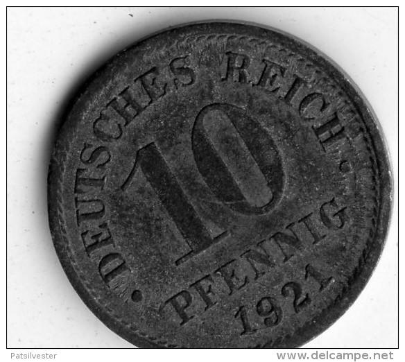 Germany 10 Pfennig 1921 - [ 2] 1871-1918 : Impero Tedesco