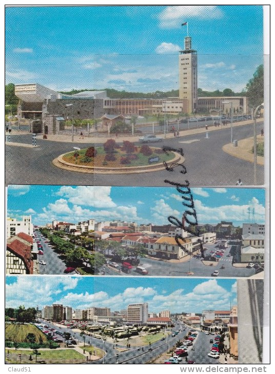 Lot De 3 CPM ;Nairobi :Khoia Mosque /Nairobi:Multivues/Parliament Buildings, - Kenya