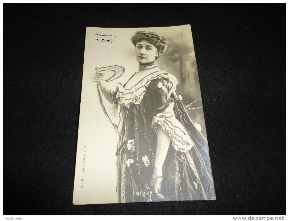 Célébrités. Artiste Belle Epoque . Mirka. Carte Photo Reutlinger. Avant 1904. Paillettes . - Entertainers