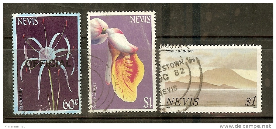 NEVIS SMALL LOT USED !! - St.Kitts-et-Nevis ( 1983-...)