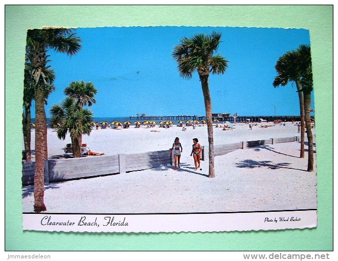 "USA 1983 Postcard ""Clearwater Beach Florida"" To England - Olympics Gymnastic Or Swimming - Etats-Unis"