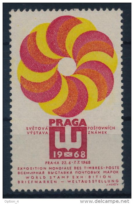 Czechoslovakia CSSR 1968 Praga Label (no Gum) Vignette - Tschechoslowakei/CSSR