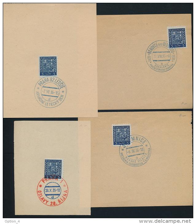 Czechoslovakia CSSR Special Postmark (4) Masaryk Stur Flight Day 28.10 - Briefe U. Dokumente