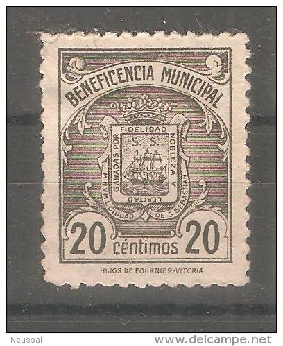 Viñeta De Beneficiencia Municipal. - Otros