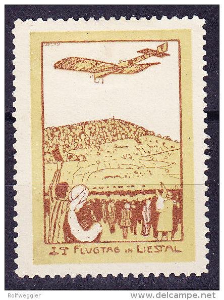 Flugpostmarke 1913 Vorläufer Zu# VIII Flugtag In Liestal - - Poste Aérienne