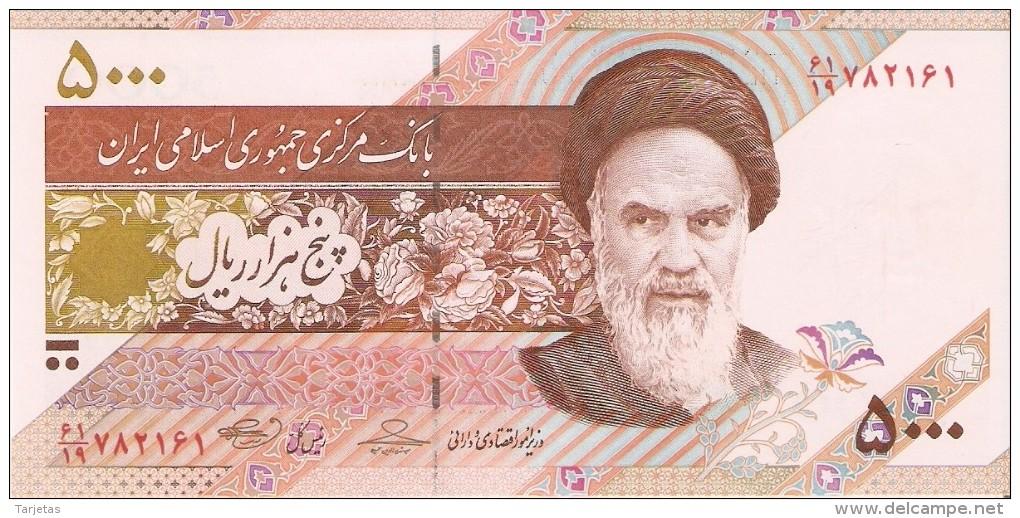 BILLETE DE IRAN DE 5000 RIALS   (BANKNOTE) SIN CIRCULAR-UNCIRCULATED - Iran